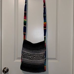 Tribal print crossbody bag